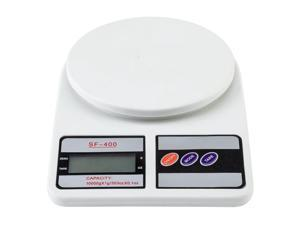 10KG / 1g Kitchen Mail LCD Digital Scale for Home Cooking White