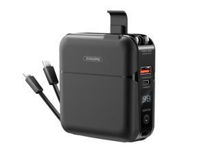 Power Bank Charger 15000 mAh  2 in 1 Portable Charger with Dual USB Ports,Foldable US Plug ,Type C Quick Charger Compatible with Macbook Air ,iPhone 12, iPhone 11, iPhone Xs Max, iPad Air/Pro and more