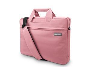 "Women Laptop Bag 14"" Laptop Messenger Shoulder Bag Case Briefcase for 14 - 15.4 Inch Laptop / Notebook / MacBook / Ultrabook / Chromebook Computers Pink"