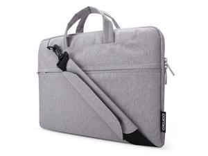 POFOKO Laptop Bag 15.6 Inch, Oxford Fabric Laptop Messenger Shoulder Bag Case Briefcase for 15 - 15.6 Inches Laptop / Notebook / MacBook / Ultrabook / Chromebook Computers (Gray)