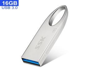 SSK 16GB USB 3.1 Flash Drive,Metal Shell USB 3.0 Flash Drive High Speed U Disk Memory Stick Applicable to  Laptop,Smart TV,Desktop Computer,Car Speaker and more