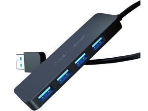 4 Port USB Hub,High Speed USB 3.0 Hub,Premium Ultra Slim Laptop USB Spliter Plug and Play Hot Swapping Support, Compatible with Macbook,thinkpad,Windows Desktop PC and other Laptop Computer