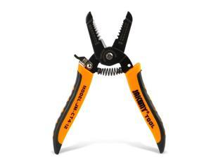 JAKEMY 7in Wire Stripper 10-22 AWG Cutter Crimper, Copper Wire Stripping Tool And Multi-Function Vise Hand Tool,Professional Handle Design And Refined Craftsmanship CT4-12