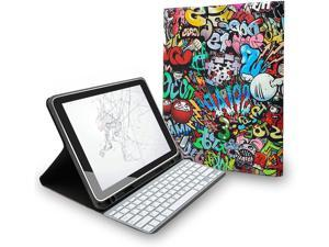 """Case for iPad Pro 11 Inch 3rd Generation 2021 to Carry Keyboard, Smart Cover Support Apple Pencil Charging, Built-in Pencil Holder with Auto Wake/Sleep for iPad Pro 11"""" 2021 (Graffiti)"""