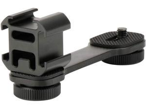 Triple Cold Shoe Mount Adapter Vlog Video Microphone Extension Bar for Zhiyun Smooth 4 DJI Osmo Pocket Osmo Mobile 3 Feiyutech Vimble 2 3-Axis Gimbal Accessories