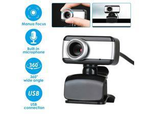 USB 2.0 HD Web Cam Camera Webcam with Microphone for Computer PC Laptop Desktop Webcam Autofocus Webcam Camera With Microphone for Laptop Desktop Computer
