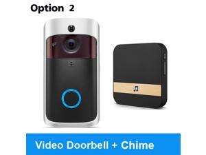 Wireless Doorbell Camera, Waterproof WiFi Doorbell Security Camera With Chime, Wireless Doorbell Receiver Ding Dong Wifi Doorbell Camera Low Power