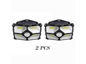 2pcs Waterproof 40 LED Solar Power Lamp Outdoor Garden PIR Motion Sensor Wall Light Unique Reflector Cup Design