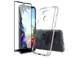 Clear Case Compatible with LG k40s - Soft Slim Flexible Protective TPU Phone Back Cover Shock Resistant 360 Protection - Transparent