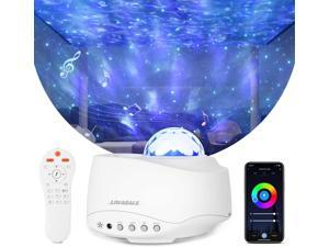 Starry Star Projector, WiFi Starry Star Light Work with Alexa Google Home, 4 color 27 modes Night Light with Voice Control/App/Remote, Bluetooth Speaker Night Light for Kids Bedroom Gifts