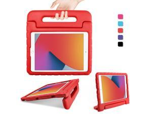 DONWELL Shockproof Hybrid Rubber Light Weight Handle Stand Kids Case for Apple iPad 8th Generation Case 2020, iPad 10.2 inch Case, iPad 7th Generation Case For Kids