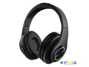 Donwell Wireless Pro Gaming Headset W/ Mic Headphones for PS5 PS4 Xbox One PC Microphone, Foldable Headphones Wireless Headset Over Ear Noise Reduction Earphone Stereo