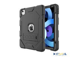 Donwell For iPad Air 4th Gen 10.9 inch 2020,For Apple iPad Air (2020)/Apple iPad Air (4th Generation) /Apple iPad Air 10.9'' 2020 Shockproof TPU Pencil Holder Kickstand Case Cover