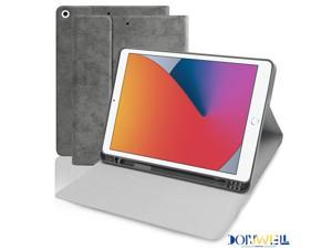 """Donwell For Apple iPad 7th/8th Gen 10.2 inch 2019/2020 Leather Stand Case Full-Body Protective Stand Tablet Case For Apple iPad 10.2"""" 2019, For Apple iPad 10.2"""" 2020"""