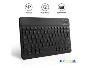 Donwell For iPad 7th Gen,for iPad 8th Gen,for iPad 10.2 inch 2019,for iPad 10.2 inch 2020 Bluetooth Wireless Mini V3.0 Keyboard