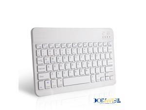 Donwell Wireless Bluetooth Keyboard For iPhones/ Apple iPad 7th Gen/8th Gen 10.2 inch 2019/2020 Mini Wireless Bluetooth Keyboard for samsung phones White keyboard