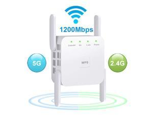 2.4G/5G Wireless WiFi Repeater WiFi Extender 1200Mbps Long Range Wifi Repeater Wi-Fi Signal Amplifier