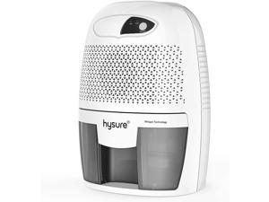 hysure Portable Mini Dehumidifier 2200 Cubic Feet Electric Safe Dehumidifier for Bedroom Home Crawl Space Bathroo RV Baby Room White (Dark)