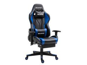 Walsport Massage Gaming Chair Racing Office Computer Game Chair with High Backrest Recliner Desk Chair Executive Ergonomic Adjustable Swivel Task Chair with Headrest and Lumbar Support
