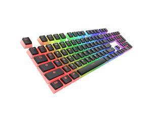 Tecware PBT Keycaps, Double-Shot PBT Keycap Set, for Mechanical Keyboards, Full 112 Keys Set, OEM Profile, English (US, ANSI) (Pudding Black)