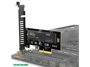 AMPCOM M.2 NVME SSD to PCIE Adapter Card, 40Gbps SSD PCI X4 3.0 Adapter for Desktop PC, PCI-E GEN3 Full Speed