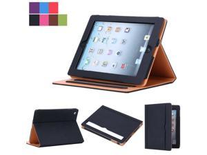 New Soft Leather Folio Wallet Smart Case Cover Sleep Wake Stand For  iPad