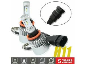 H11 LED Headlight 6000K Kit Hight Low Beam Bulbs High Power White Pair