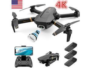 Drone X Pro WIFI FPV 4K HD Camera 3 Batteries Foldable Selfie 2.4G RC Quadcopter