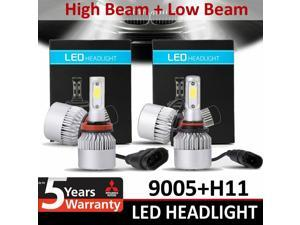 4 PCS 9005+H11 COMBO LED Headlight Kit High Low Beam Bulb 6000K 400W 80000LM USA