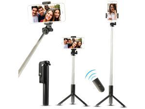 Wireless Selfie Stick Tripod Cell Phone Holder Stand +Remote Shutter Extendable