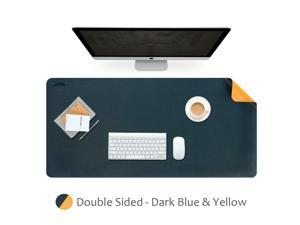 Dark Blue  Yellow Dual-Sided Extended Mouse Pad PU Material 900mm x 450mm