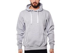 Cotton blend hoodie with Kangaroo Pocket Grey Mix -  ™