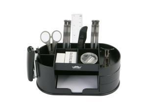 ® Plastic Desk Organizer, 11 Compartments, Black