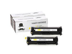 ® 2PK 312A CF382A Yellow Toner Cartridge For