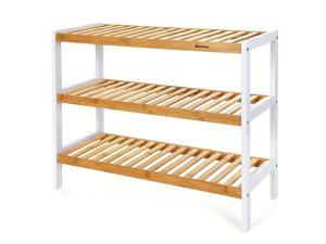 ® Bamboo Shoe Rack Organizer 3 Tiers Shelves for 12 Pairs of Shoes