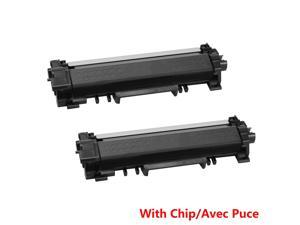 2PK TN730 Black Toner Cartridge With Chip For Brother DCP-L2550DW HL-L2370DW