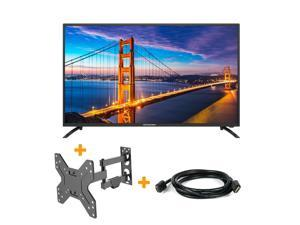 ® 43'' FHD DLED TV W/ IPS LCD Panel Television 1080P +TV Mount +Cable