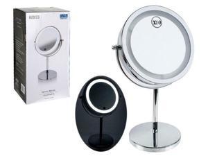 LED Light Makeup Vanity Mirror w Dimmer Touch Switch,1x/10x Magnificon-