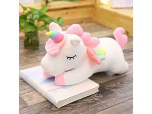 Unicorn Gifts Sleeping Comfort Cushion Soft Pillow Plush Unicorn Toy-White, 60cm