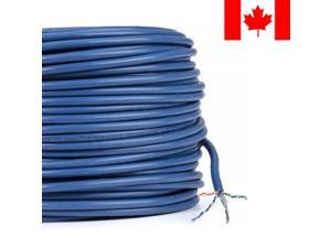 250FT 23AWG4P Bare Copper Cat6 550MHz UTP Solid Bulk Cable, Riser Rated CM
