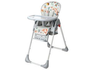 3-Position Adjustable Food Tray Baby High Chai with Basket Booster Toddler-Home