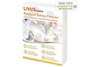 ® Hypoallergenic Waterproof Mattress Protector cover King Queen Full