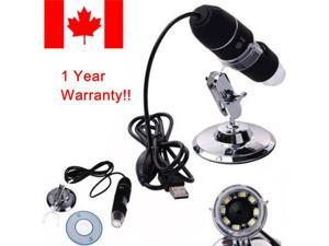 1000X8 LED USB 2.0 Digital Microscope Endoscope Zoom Camera Magnifier+Stand 2MP