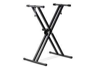 Metal Adjustable Keyboard Electronic Piano Dual Tube X Stand Standard Rack Room