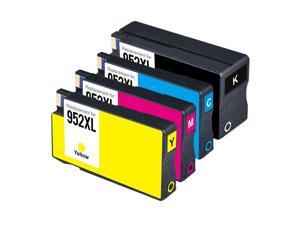 4Pack NON-OEM Ink Cartridge For  952XL 952 OfficeJet Pro 8734 8735 8736