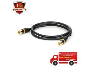 ® 1.5ft 2RCA M/M Premium Composite Audio Video Digital Coaxial Cable