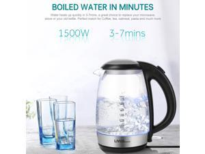 Glass Electric Kettle 1.7L w/ LED Indicator Auto Shut Off 1500W NEW Kitchen Tool