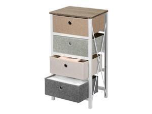 4-Drawer Storage Organizer Unit For Closet,Bedroom LivingRoom Entryway MDF Pine