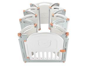 Baby Playpen Foldable Kid Safety Activity Center Playard w/Locking Gate-14-Panel