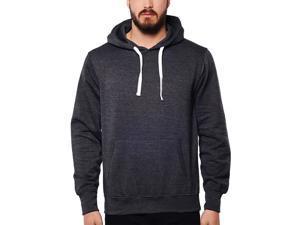 Cotton blend hoodie with Kangaroo Pocket Charcoal Mix -  ™